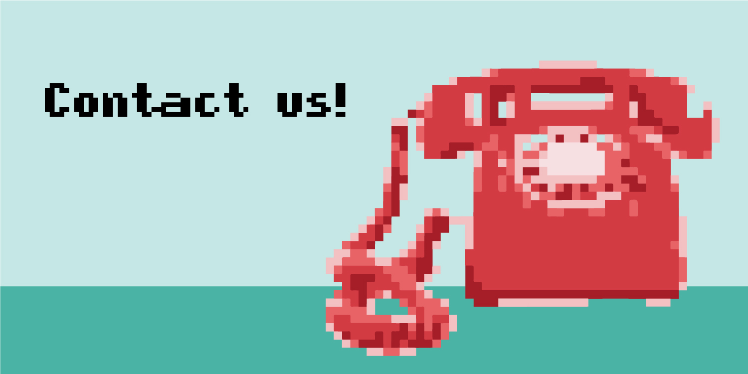 pixel illustration an old fashioned telephone